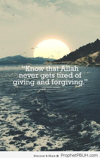 Allah is The Most Forgiving