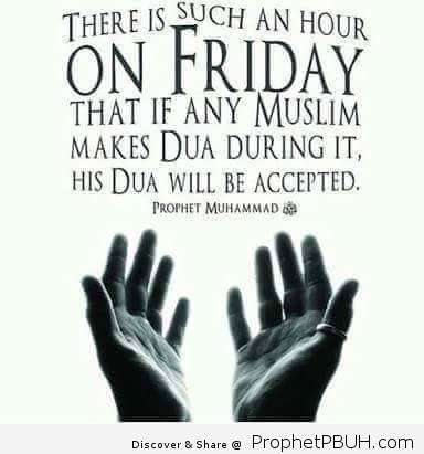 It was narrated from Abu Hurairah that_ The Messenger of Allah ﷺ said_ _On Friday there is an hour when if a Muslim slave asks Allah SWT for something at that time He will give it to him