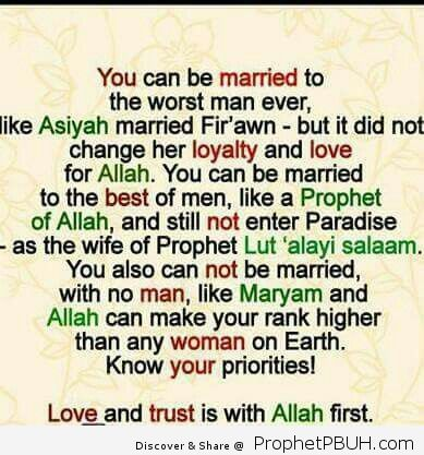 Love for sake to Allah
