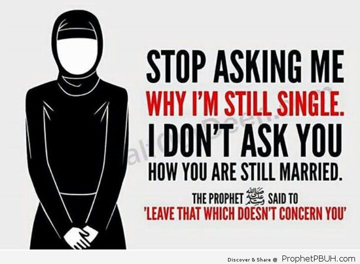 Muslims need to refrain from asking personal questions or being nosy