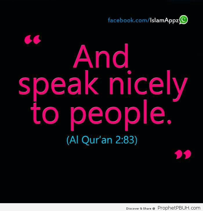 Speak good
