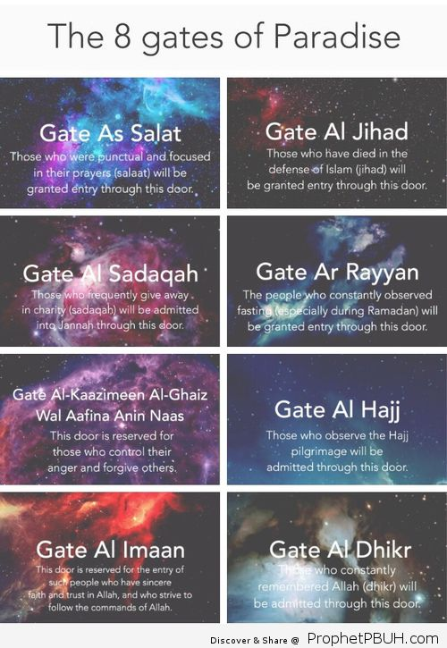 Ya Allah let every Muslim enter through a gate Allahuma Ameen❤️