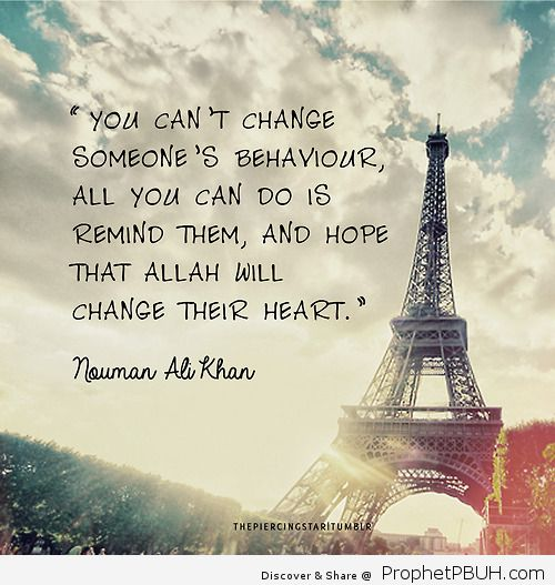 You cant change someones behaviour all you can do is remind them and hope that Allah will change their heart