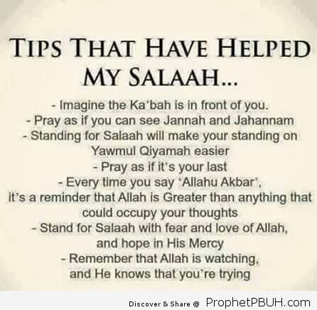 Salah Tips