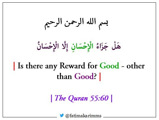 Is there any Reward for Good — other than Good?