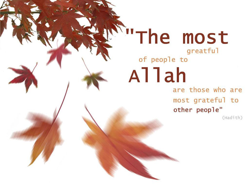 Hadith on Grateful people
