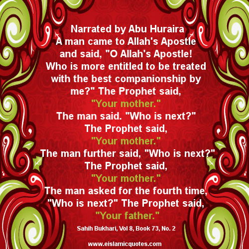 hadith about women and mothers