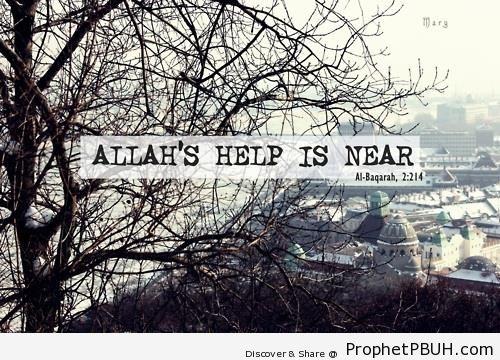 Allah-s Help (Quran 2-214; Surat al-Baqarah) - Photos of Cities
