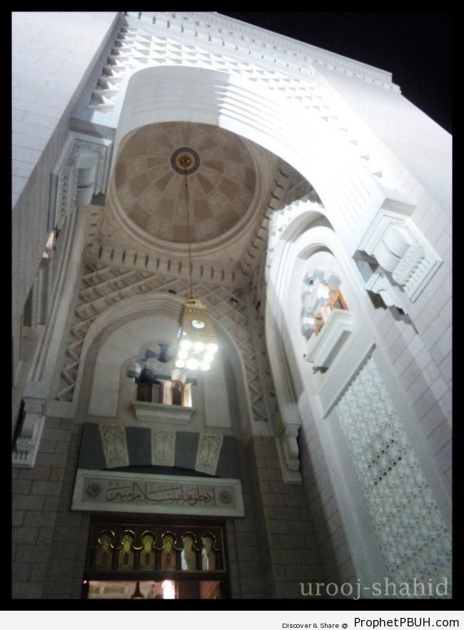 An Entrance of the Prophet-s Mosque in Madinah, Saudi Arabia - Al-Masjid an-Nabawi (The Prophets Mosque) in Madinah, Saudi Arabia