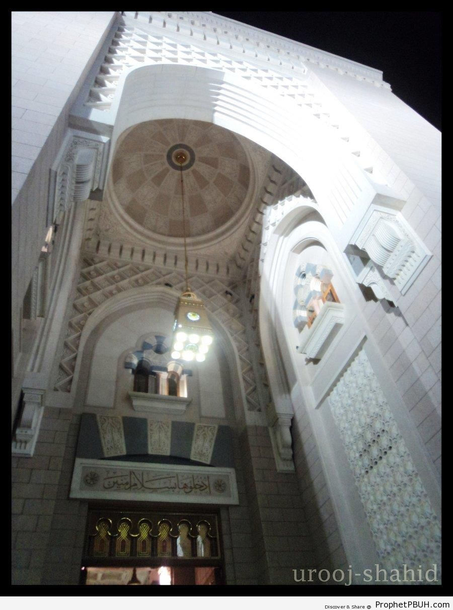 An Entrance of the Prophet-s Mosque in Madinah, Saudi Arabia - Al-Masjid an-Nabawi (The Prophets Mosque) in Madinah, Saudi Arabia -Picture