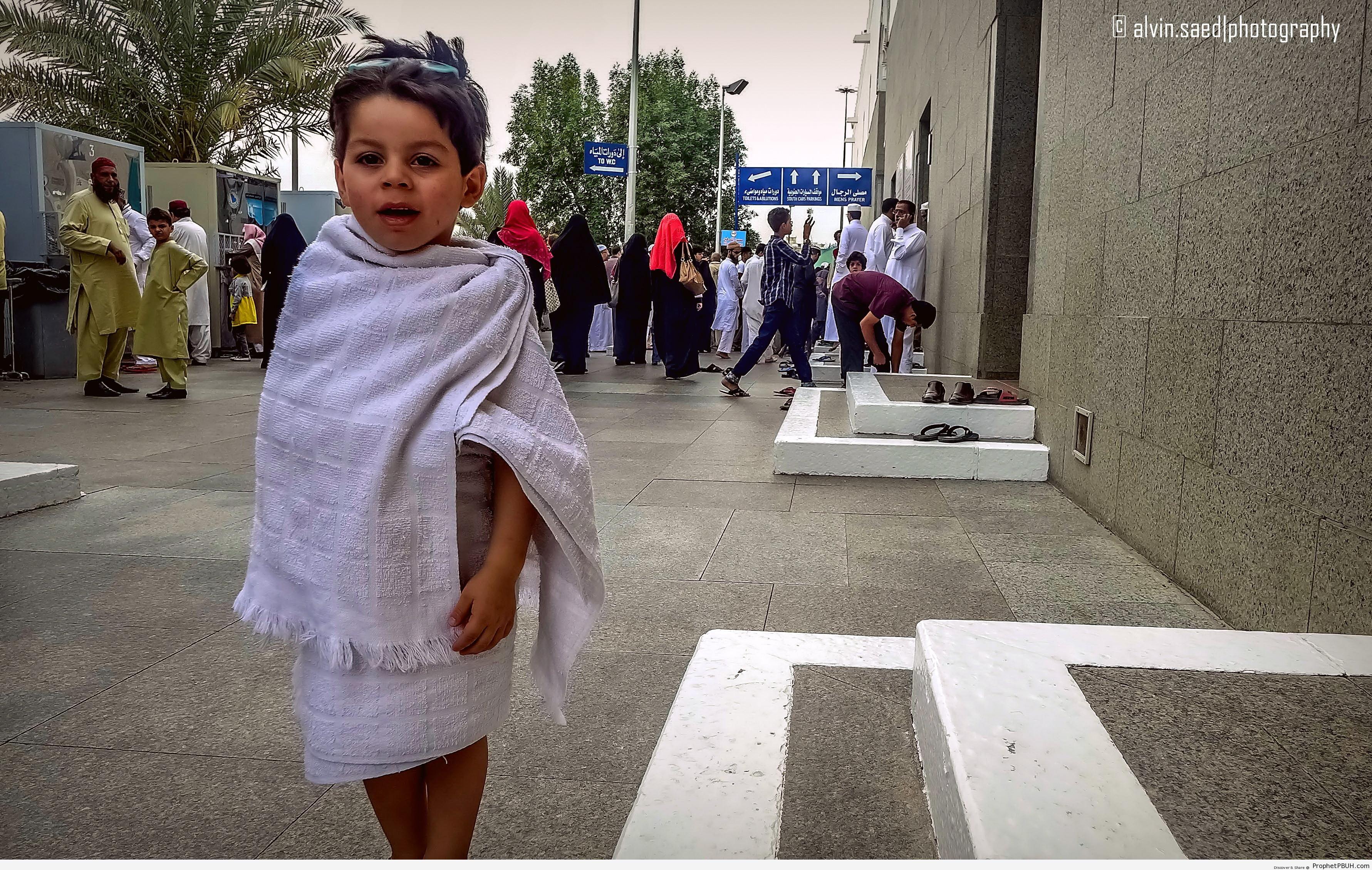 Boy in Ihram Clothes - Artist- Alvin A. Saed