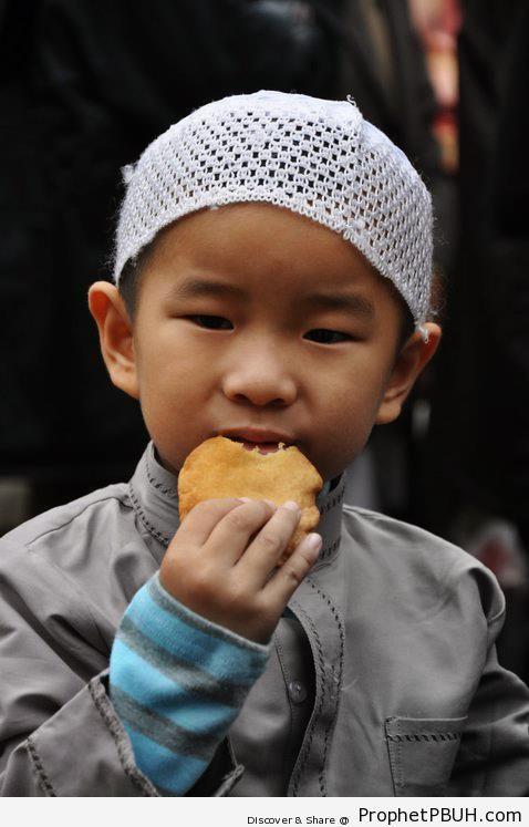 Chinese Muslim Little Boy - Artist- Cloud