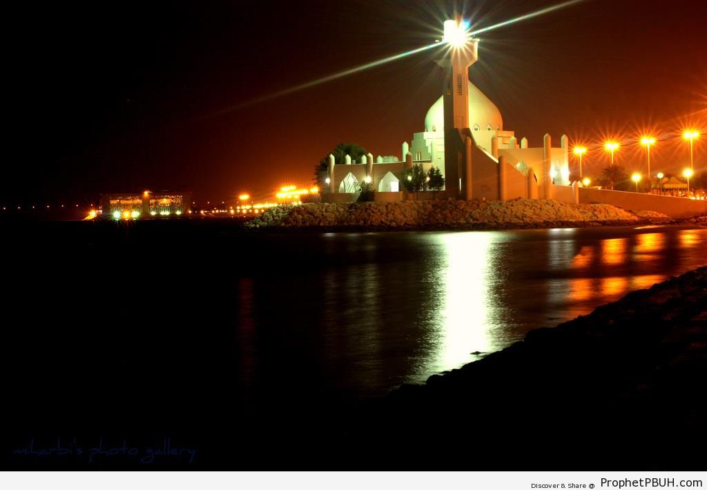Corniche Mosque at Night, al-Khobar, Saudi Arabia - al-Khobar, Saudi Arabia -Picture