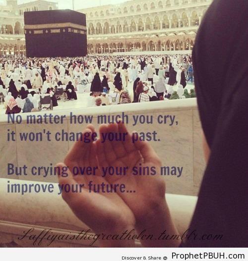 Crying Over Sins - al-Masjid al-Haram in Makkah, Saudi Arabia