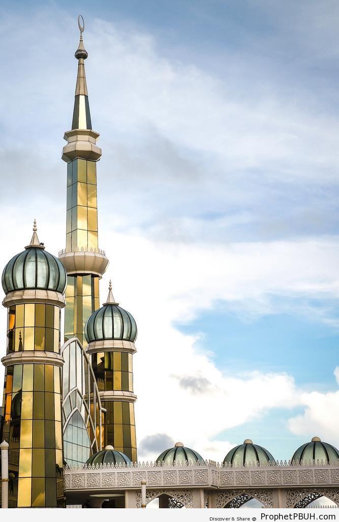 Crystal Mosque Minarets - Islamic Architecture -Picture