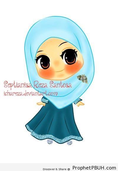 Cute Little Muslimah - Chibi Drawings (Cute Muslim Characters)