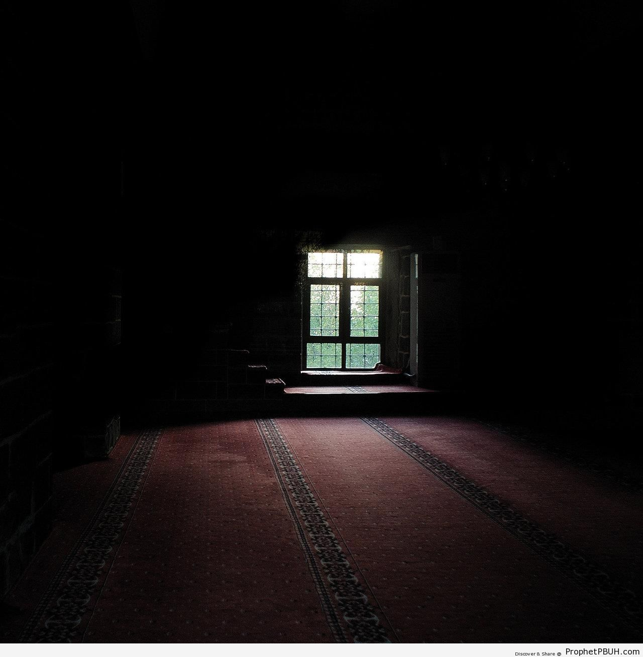 Dark and Peaceful Mosque Prayer Hall (Diyarbakır, Turkey) - Diyarbakır (Amed), Turkey -Picture