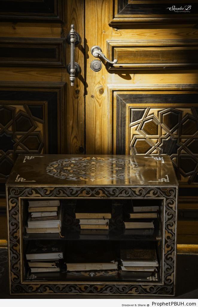 Decorated Shelf for Books of Quran at Emir Abdelkader Mosque (Constantine, Algeria) - Algeria -Picture