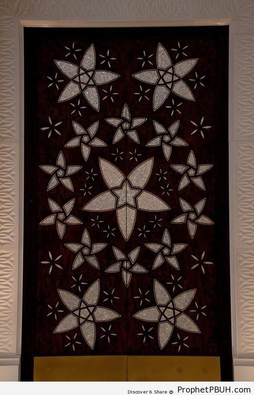 Decorative Tile at Sheikh Zayed Grand Mosque - Abu Dhabi, United Arab Emirates