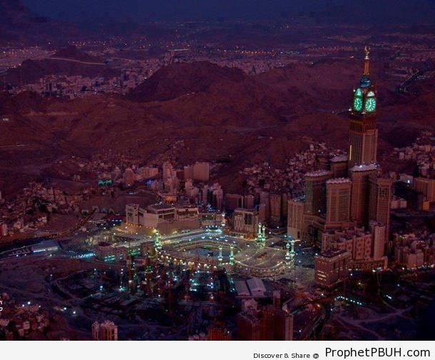 Distant View of al-Masjid al-Haram - al-Masjid al-Haram in Makkah, Saudi Arabia