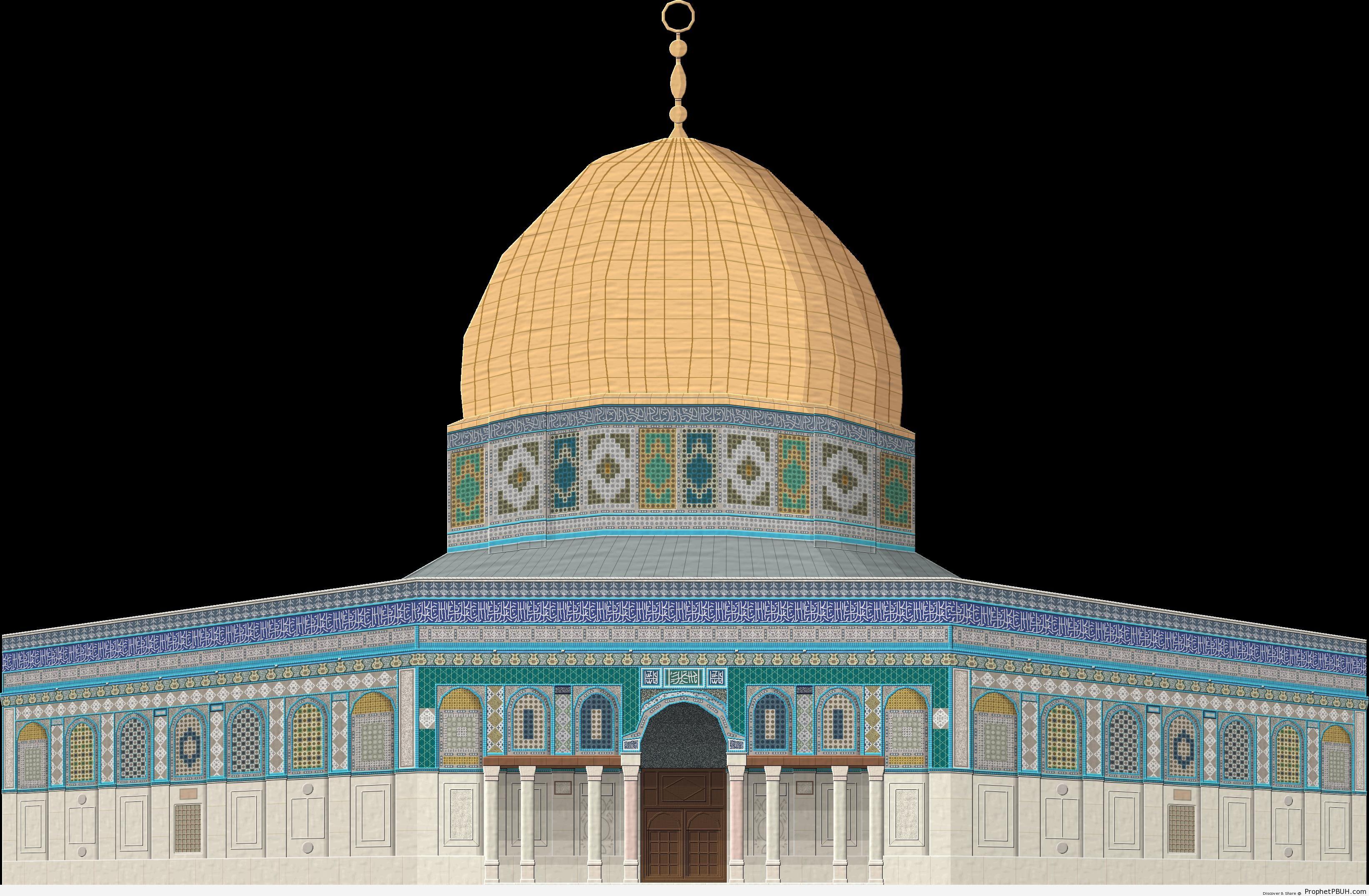 Dome of the Rock Mosque Drawing - Al-Quds (Jerusalem), Palestine