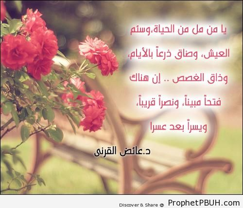 Dr. Aaidh al-Qarni- O one who has become bored of life& - Aaidh ibn Abdullah al-Qarni Quotes