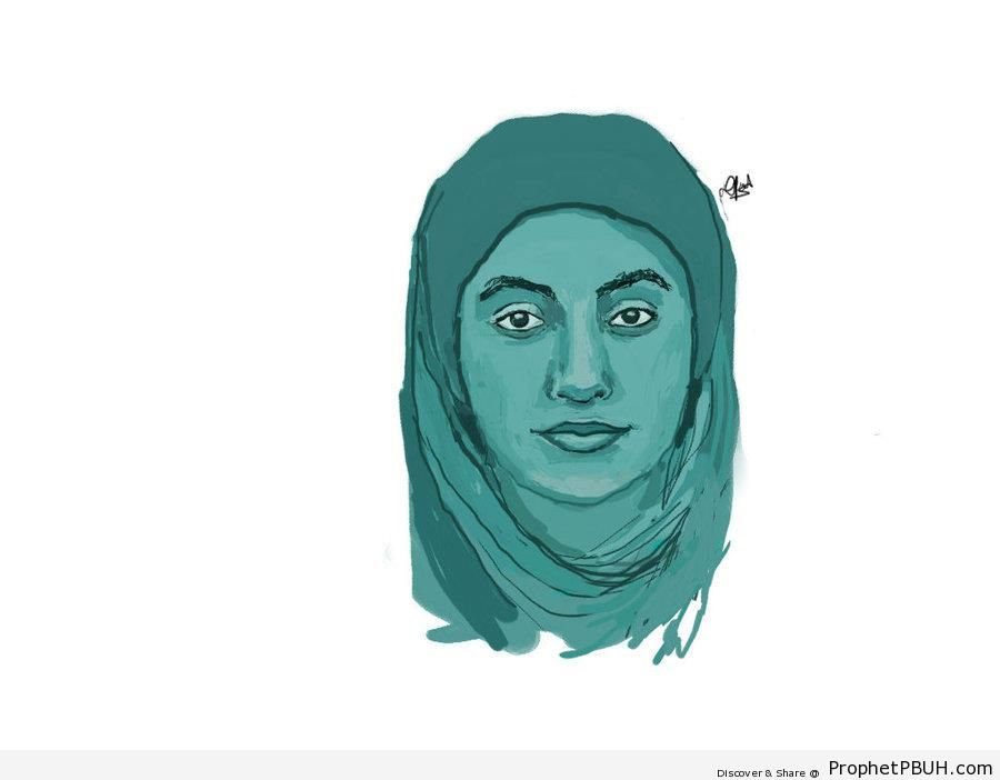 Drawing of Muslim Woman - Drawings