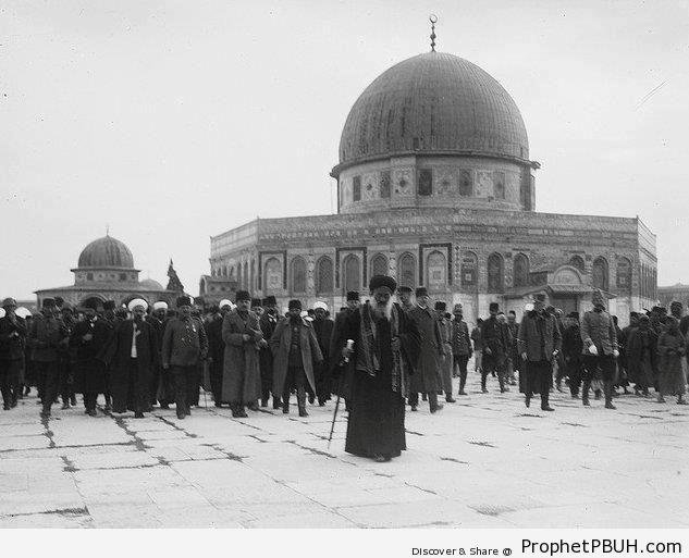 Early 20th Century Photo of the Dome of the Rock Mosque in Jerusalem, Palestine - Al-Quds (Jerusalem), Palestine