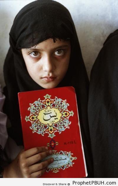 Girl Holding Surat Ya-Sin Book - Mushaf Photos (Books of Quran)