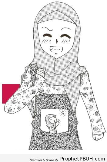 Girl in Patterned Blouse - Drawings
