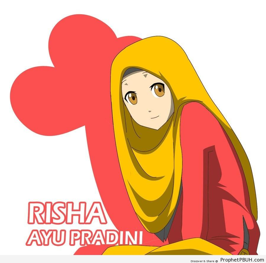 Golden Eyes in Yellow Hijab - Drawings
