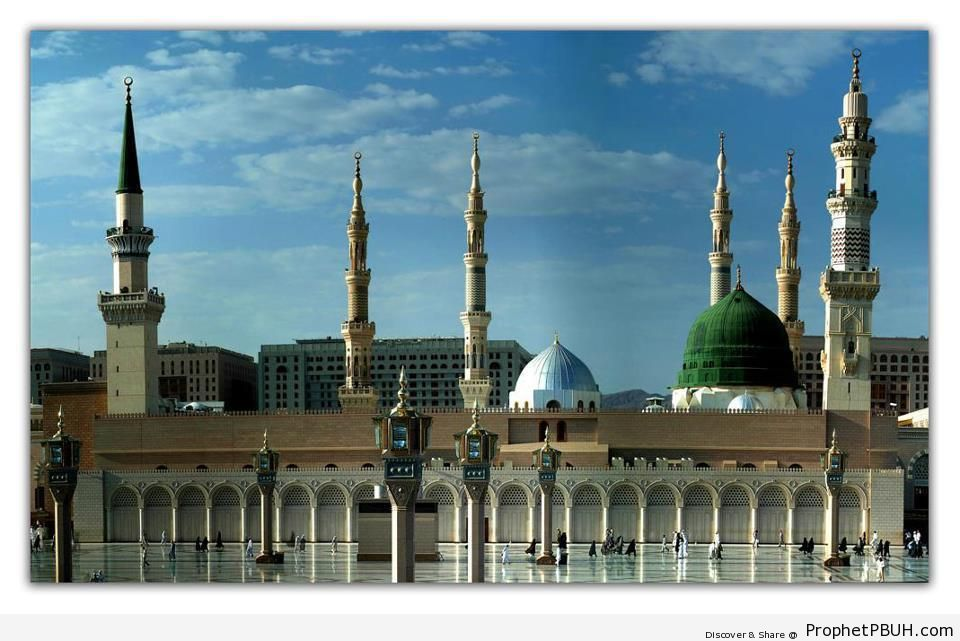 Good Day at the Mosque of the Prophet ï·º in Madinah, Saudi Arabia - Al-Masjid an-Nabawi (The Prophets Mosque) in Madinah, Saudi Arabia -Picture