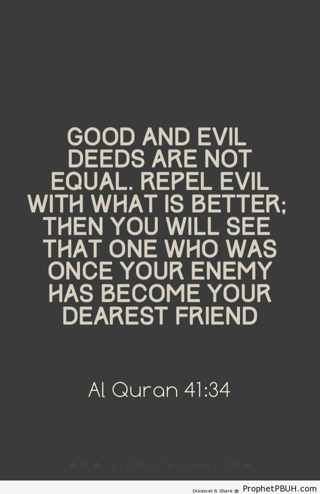 Good and evil deeds are not equal& - Islamic Quotes