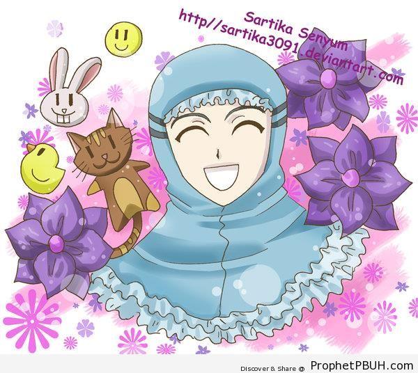 Happy Muslimah - Drawings