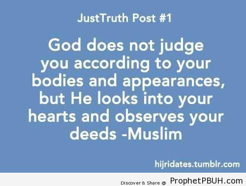 Hearts and Deeds (Sahih Muslim Hadith) - Hadith