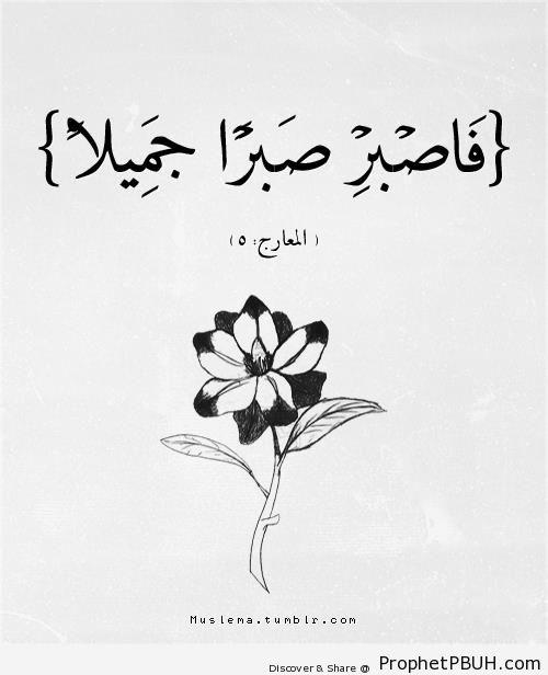 Hence Endure Patiently (Quran 70-5) - Drawings