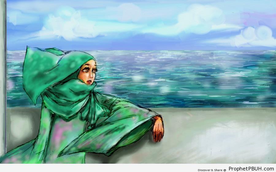 Hijabi by the Sea - Drawings