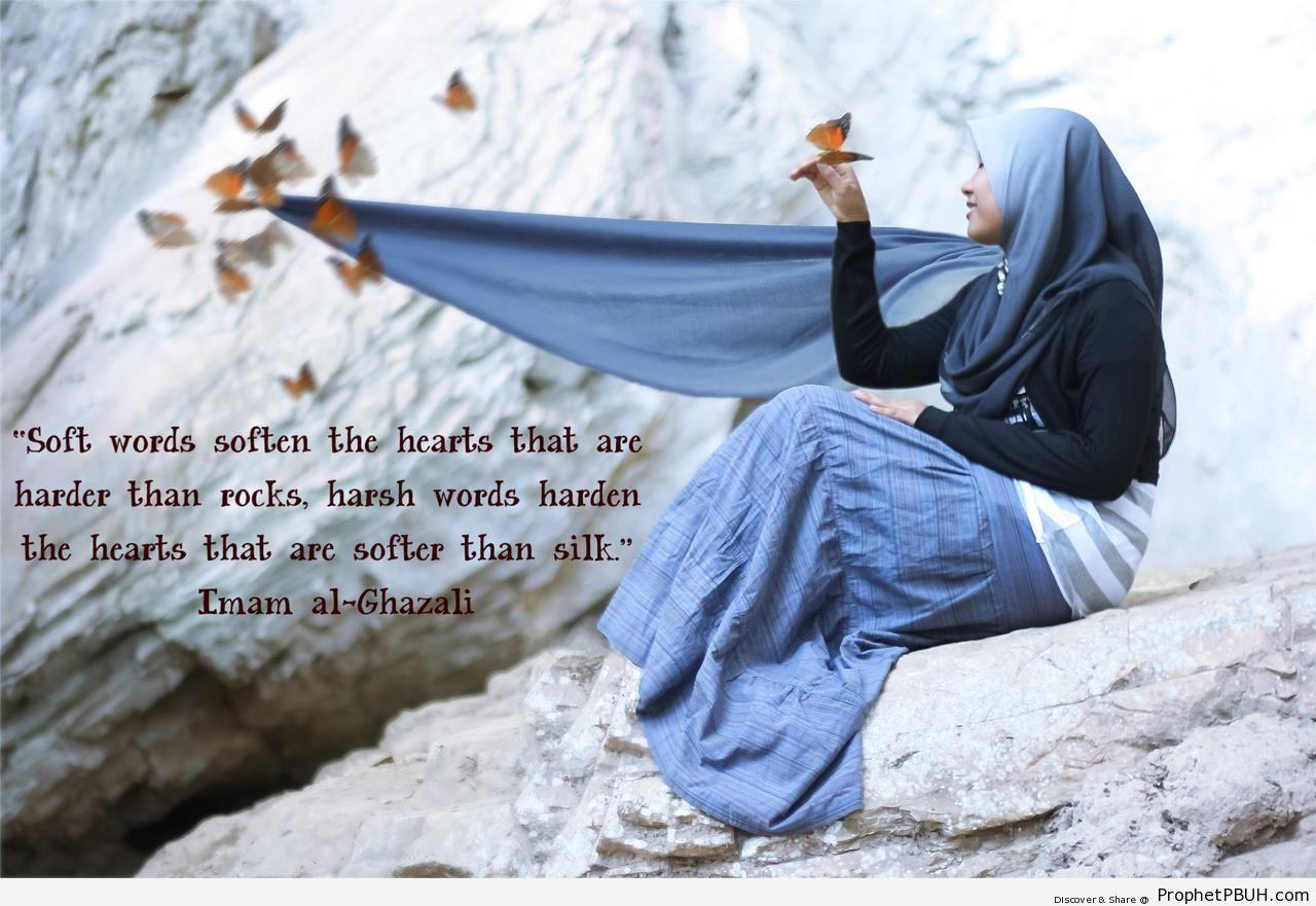 Imam Ghazzali on Soft Words vs Harsh Words - Abu Hamid al-Ghazali Quotes