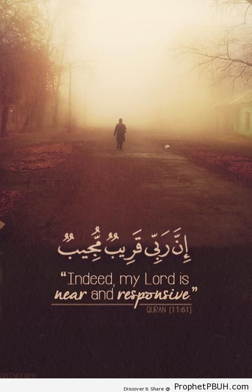 Indeed, my Lord is near - Home » Islamic Quotes » Indeed, my Lord is near