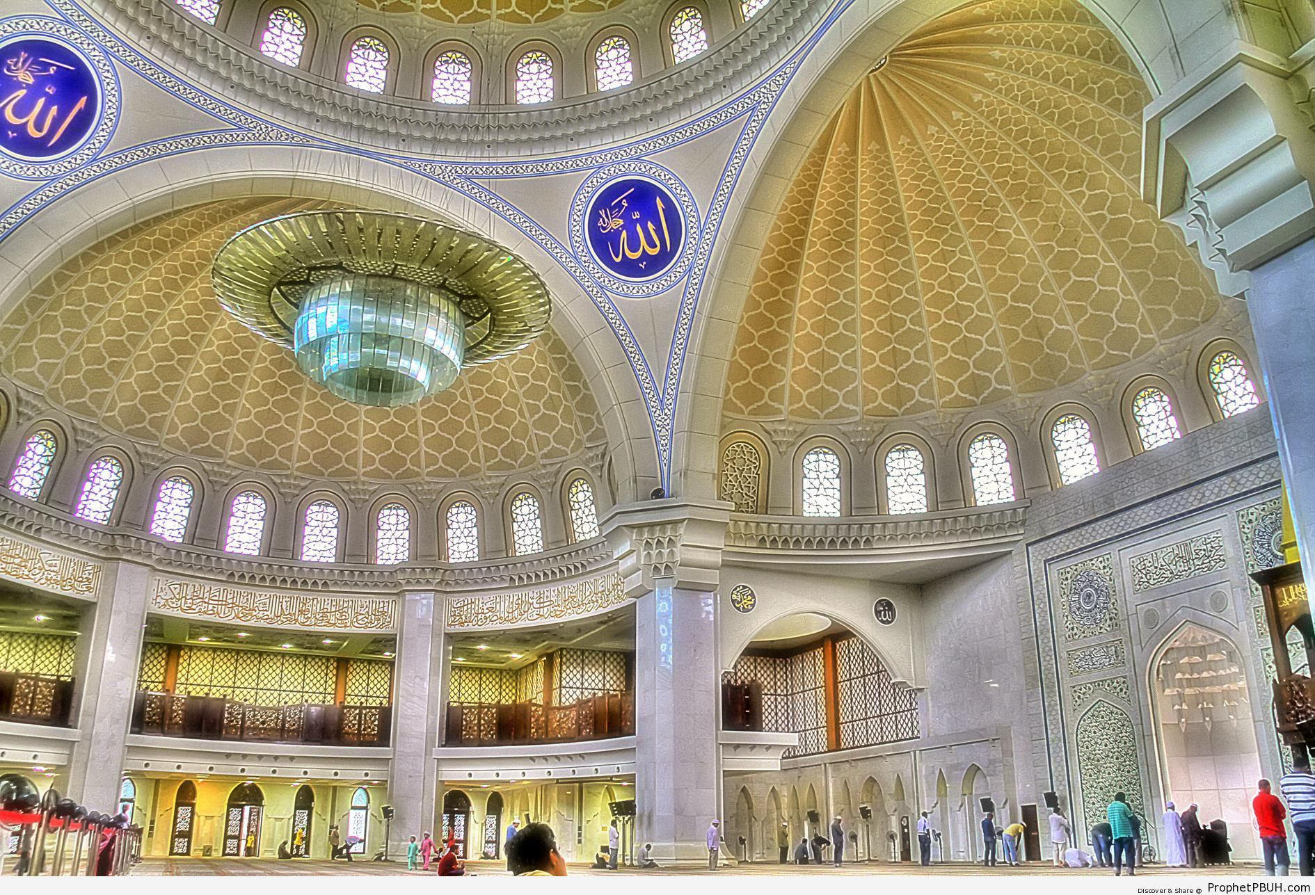 Inside Masjid Wilayah in Kuala Lumpur, Malaysia - Islamic Architecture -Picture