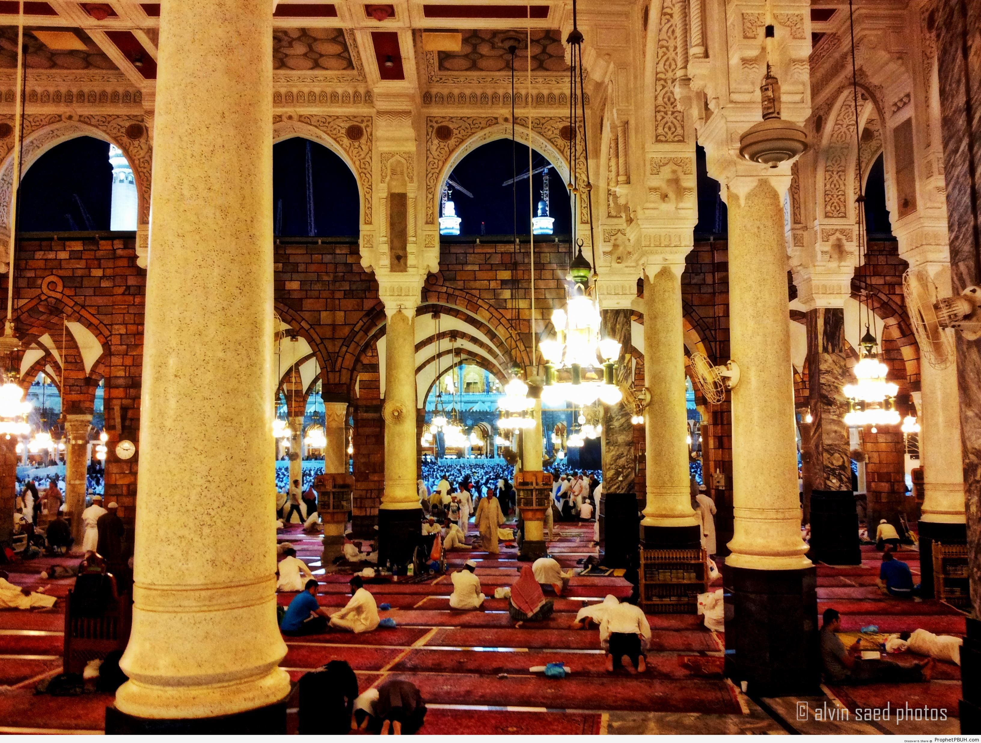 Inside Masjid al-Haram - al-Masjid al-Haram in Makkah, Saudi Arabia -Picture