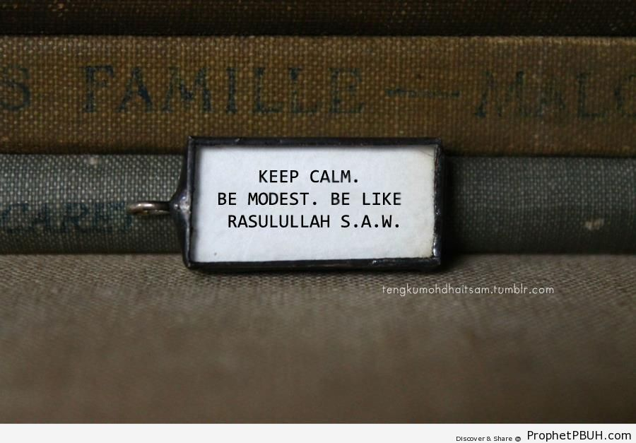 Keep Calm. Be Modest. - Islamic Posters -