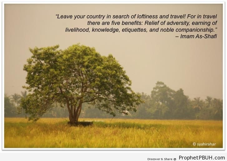 Leave Your Country (Imam ash-Shafi`i Quote) - Imam ash-Shafi`i Quotes