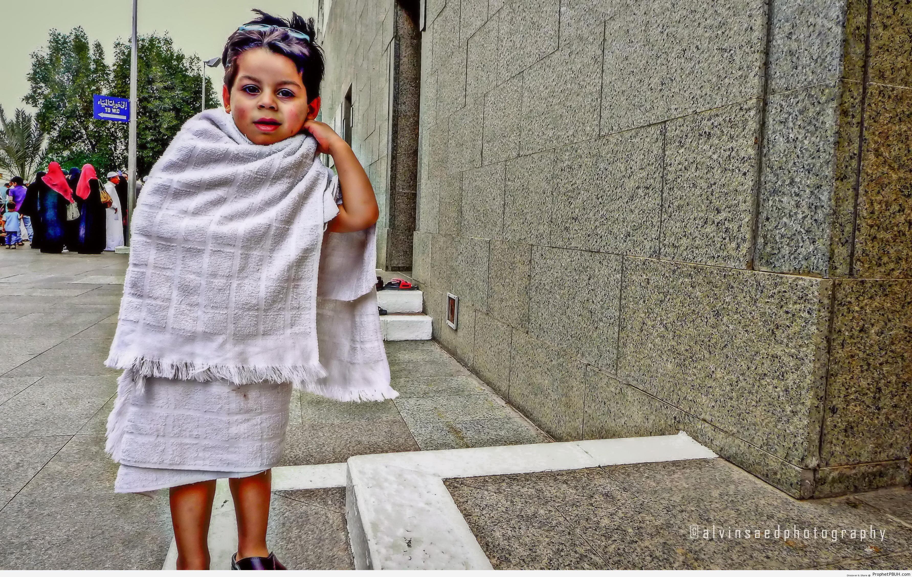 Little Boy in Ihram Clothes - Photos -