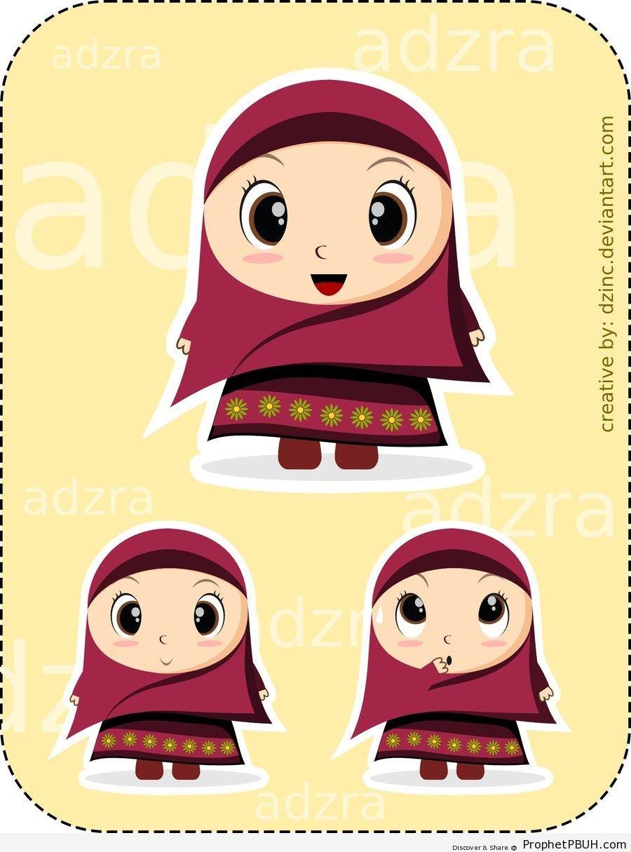 Little Chibi Hijabi - Chibi Drawings (Cute Muslim Characters)