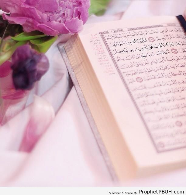 Mushaf on Ramadan Page - Islamic Quotes