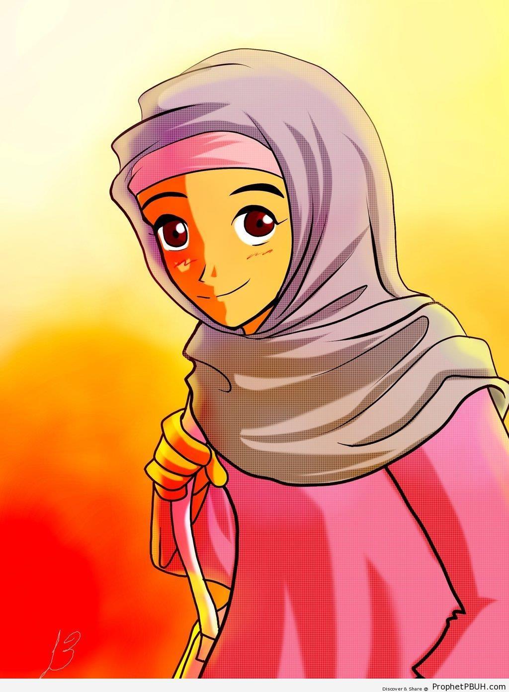 Muslim Lady - Drawings