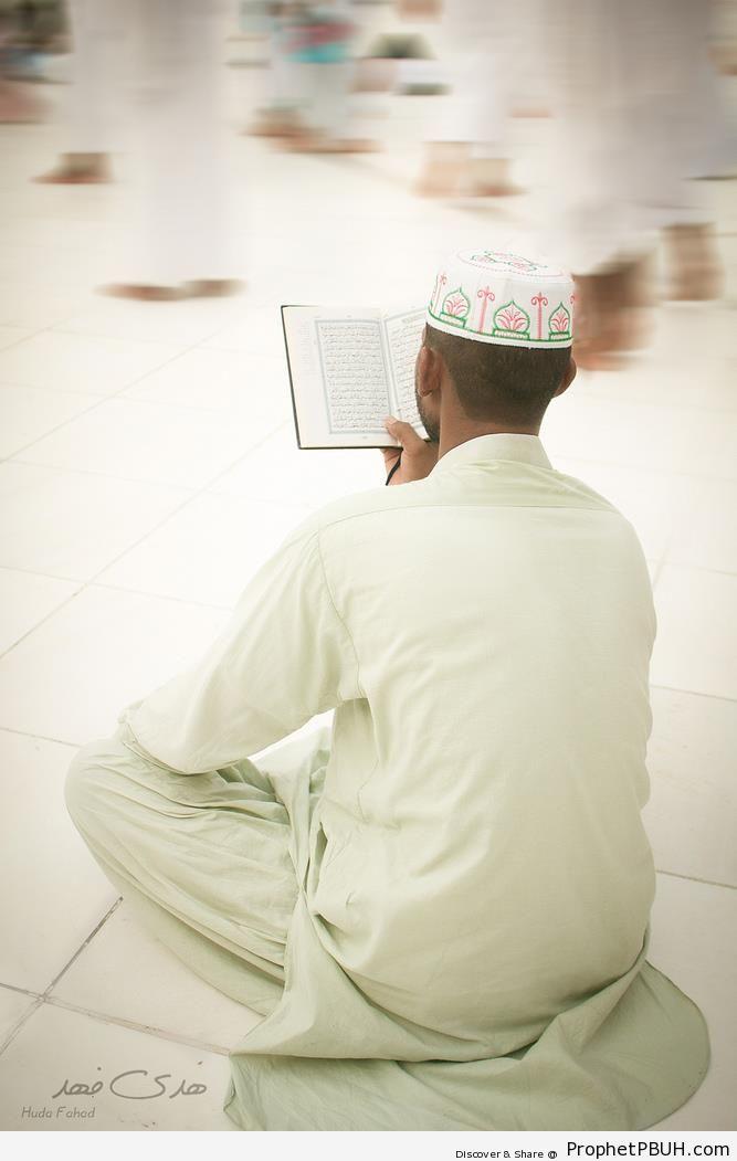 Muslim Man Reading the Quran - Photos of Male Muslims