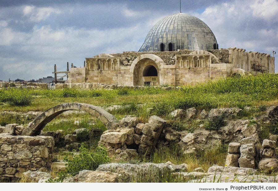 Omayyad Mosque (8th Century) at Amman Citadel, Amman, Jordan - Amman, Jordan -Picture