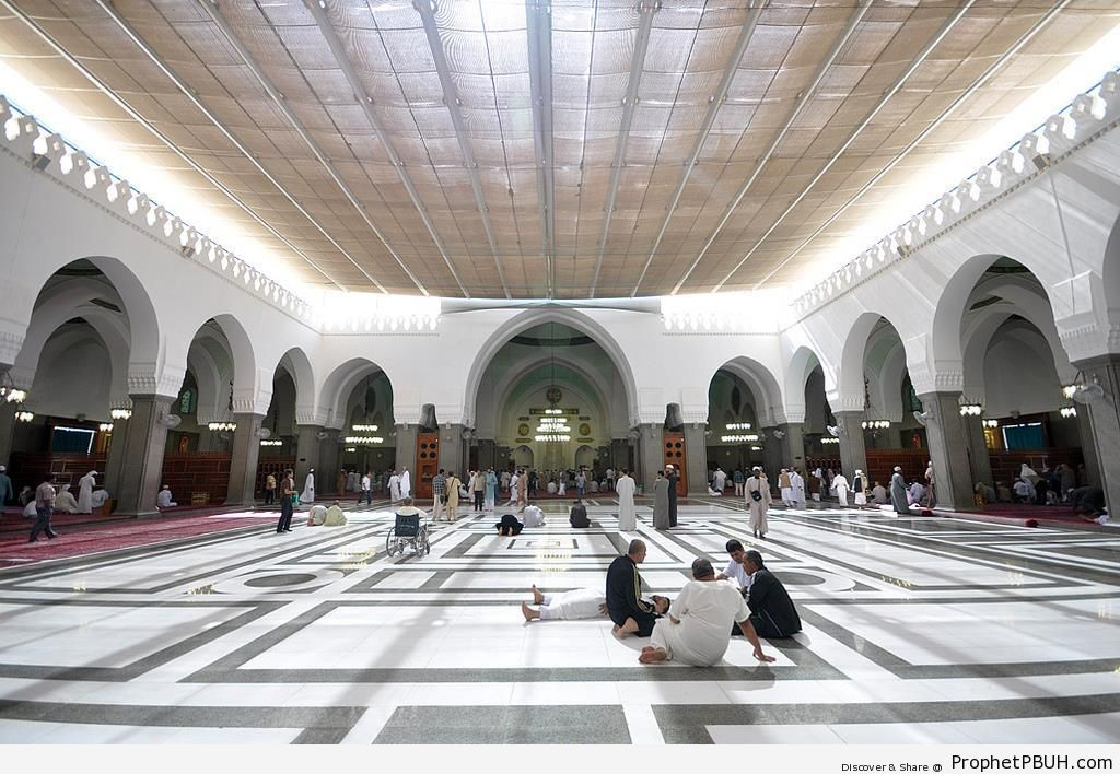 Photo of the Inside of Masjid al-Quba- in Madinah - Drawings of Mosques -Picture